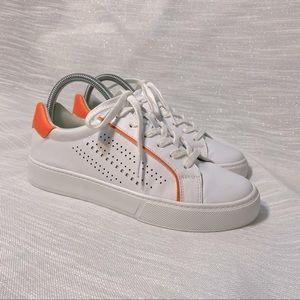 Marc Fisher Sneakers 🔥 White/orange Like New OBO